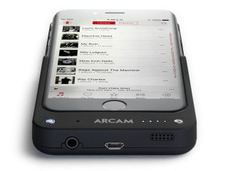 Arcam of Cambridge: MusicBOOST iPhone 6 Digital Audio Upgrade. Enhance battery life and massively improve headphone audio. PR by Robert Follis Associates. www.arcam.co.uk